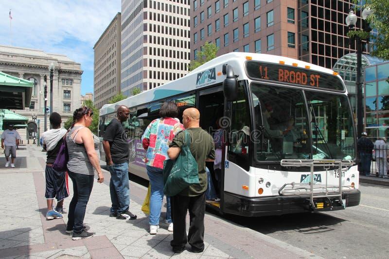 Autobús de la ciudad de la providencia fotografía de archivo