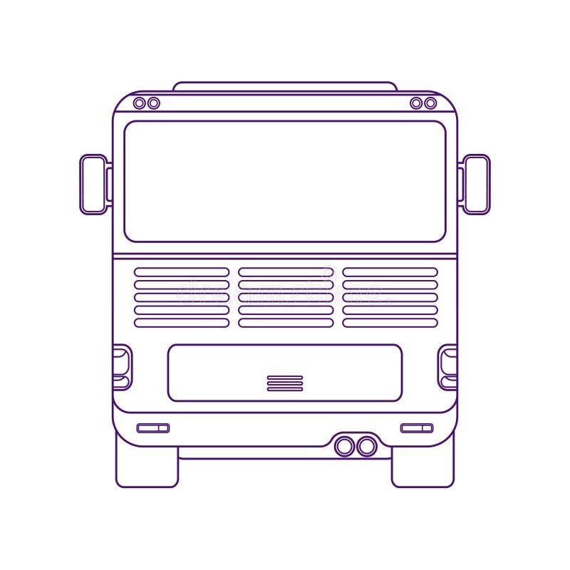 Autobús de la ciudad Autobús interurbano Vehículo para los pasajeros del transporte Autobús de la excursión Ejemplo linear de la  stock de ilustración