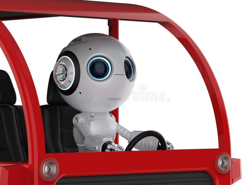 Autobús de la impulsión del robot stock de ilustración