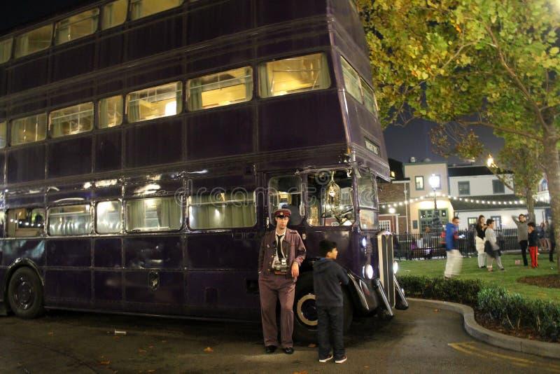 Autobús de la película de Harry Potter foto de archivo libre de regalías