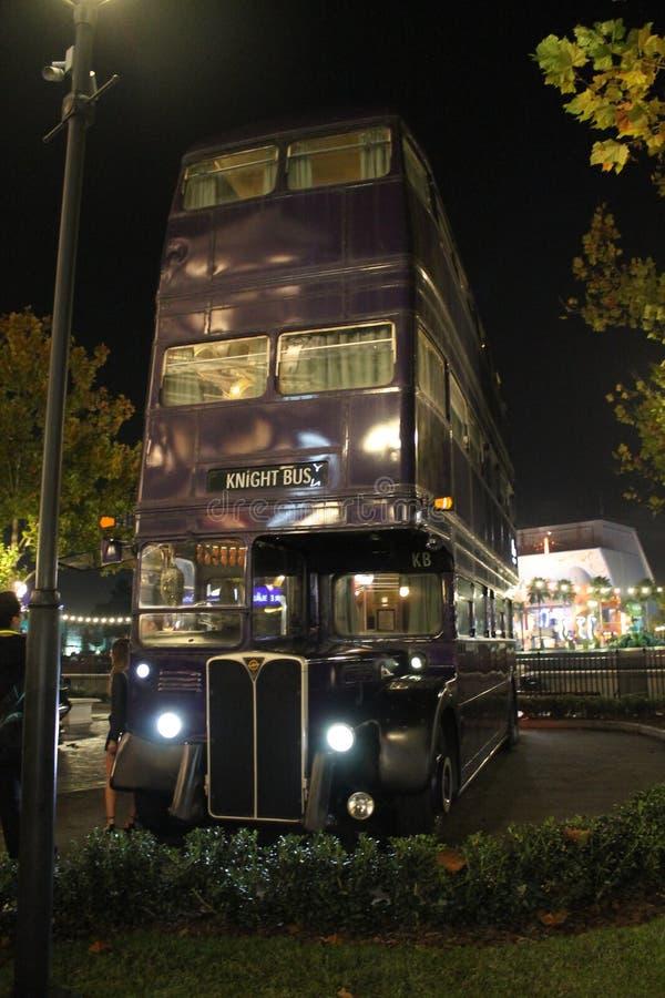 Autobús de la película de Harry Potter imagen de archivo