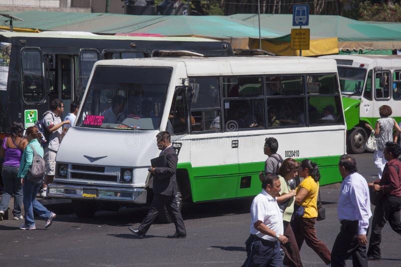 Autobús de Pesero Ciudad de México imagenes de archivo