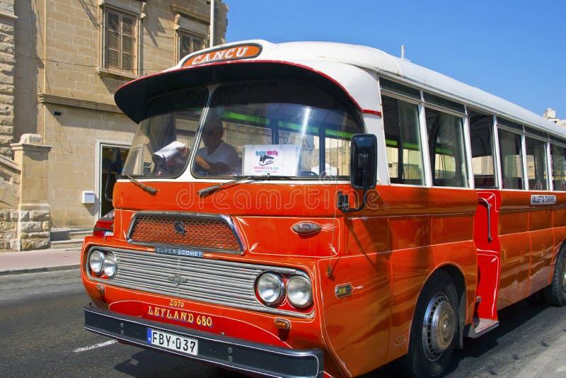 Autobús del vintage en Malta. imágenes de archivo libres de regalías