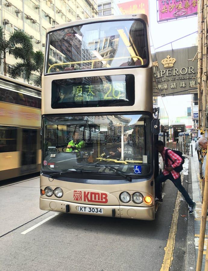 Autobús 26 en Hong Kong imágenes de archivo libres de regalías