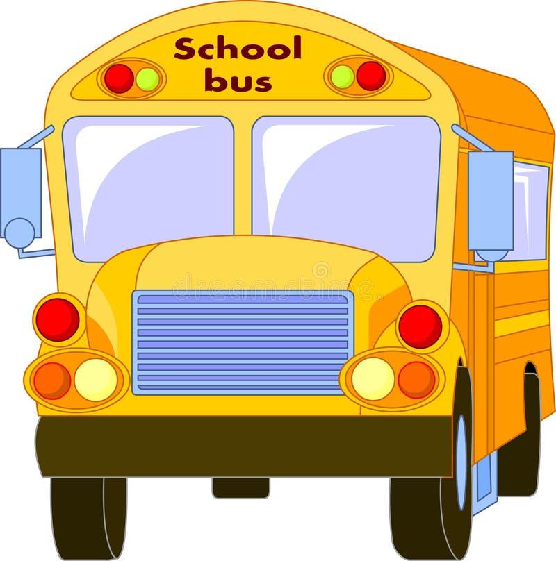 Autobús escolar amarillo ilustración del vector