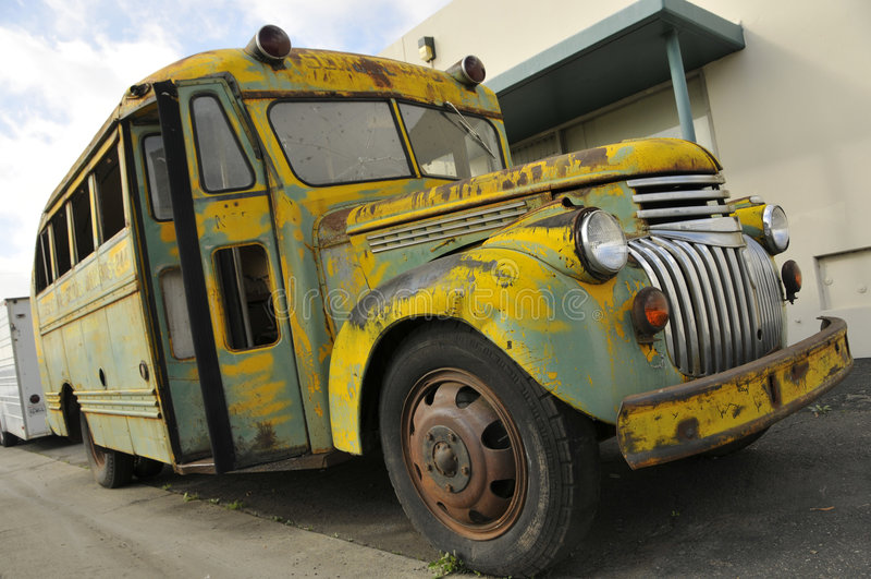 Autobús escolar de la vendimia imagen de archivo libre de regalías