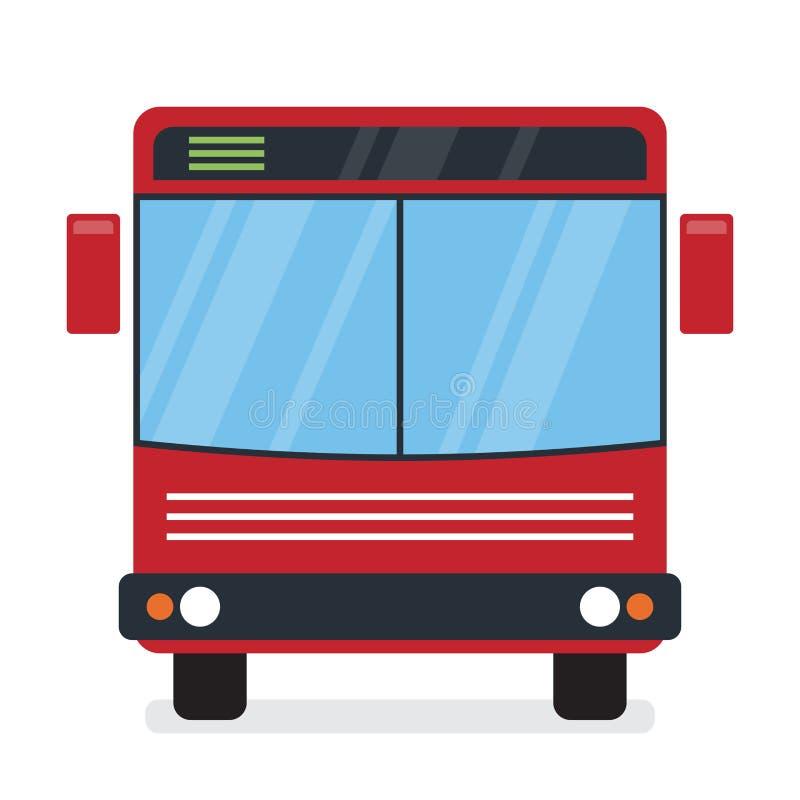 Autobús rojo stock de ilustración