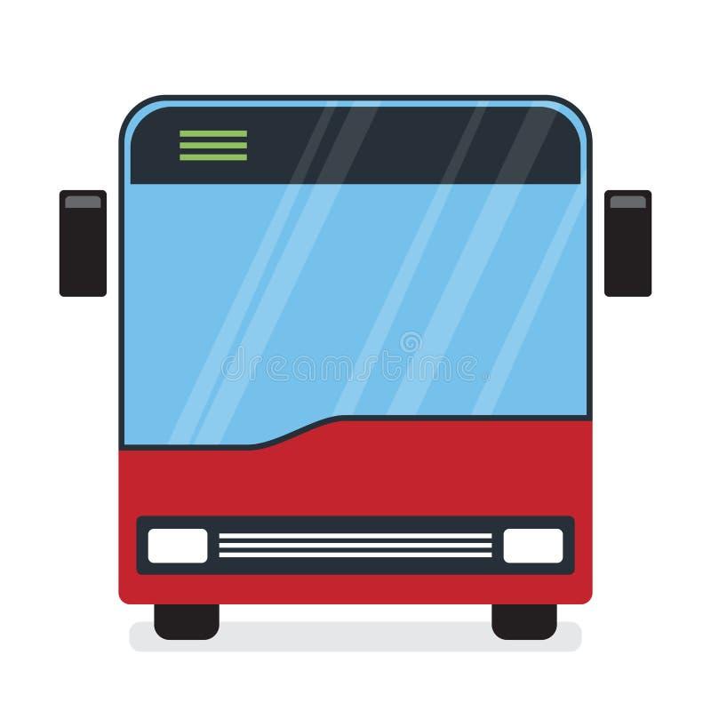 Autobús rojo ilustración del vector