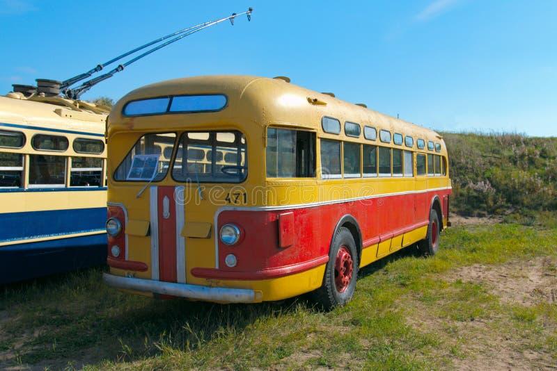 Autobús soviético ZIS-154 del vintage fotografía de archivo libre de regalías