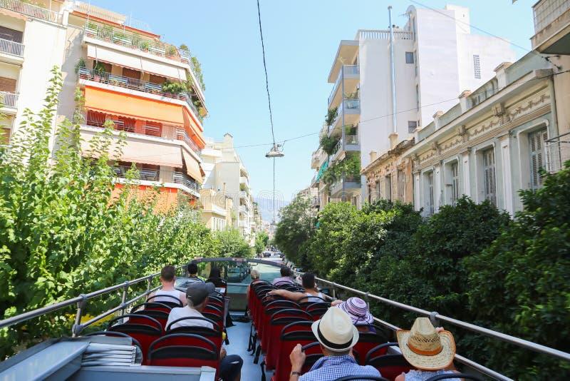 Autobús turístico - Atenas, Grecia imagen de archivo