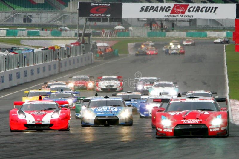 Autobacs GT super 2008 séries imagem de stock royalty free