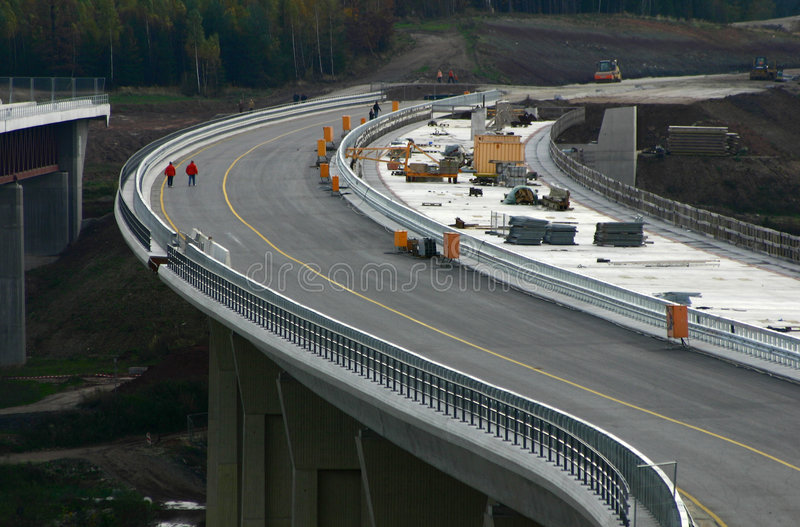 Autobahn #1. Motorway unter construction in Germany stock photography