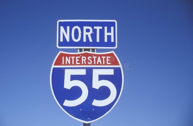 Autobahn 55 stockfoto