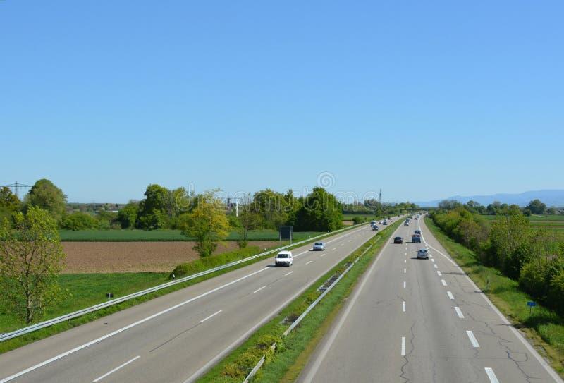 Autobahn alemão imagens de stock