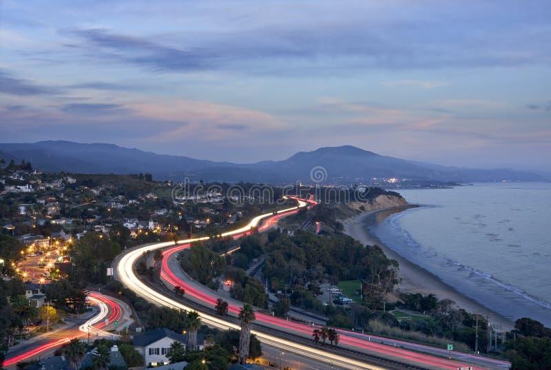 Autobahn-Auto-Leuchten stockfotos