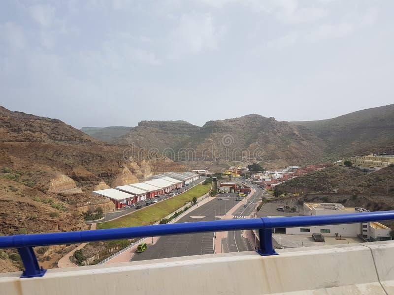 Autobahn Gran Canaria zdjęcia royalty free