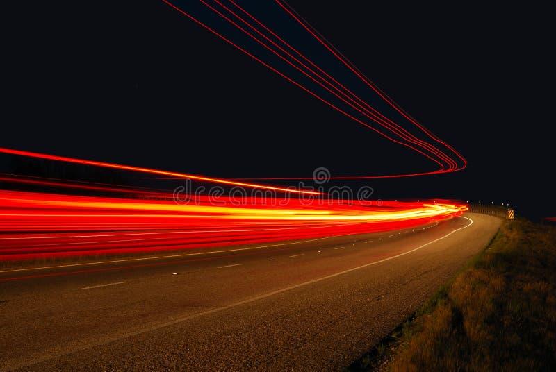 Autobahn-Leuchten stockfotos