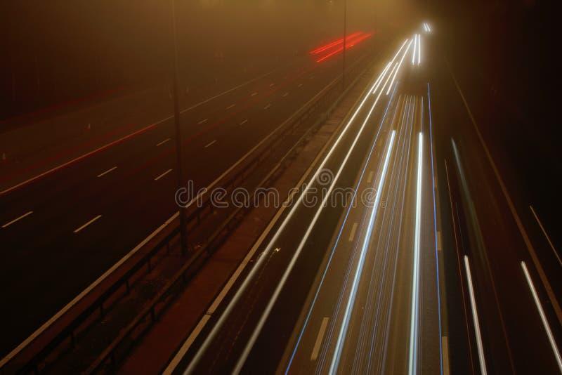Autobahn M5 in Worcester lizenzfreies stockbild