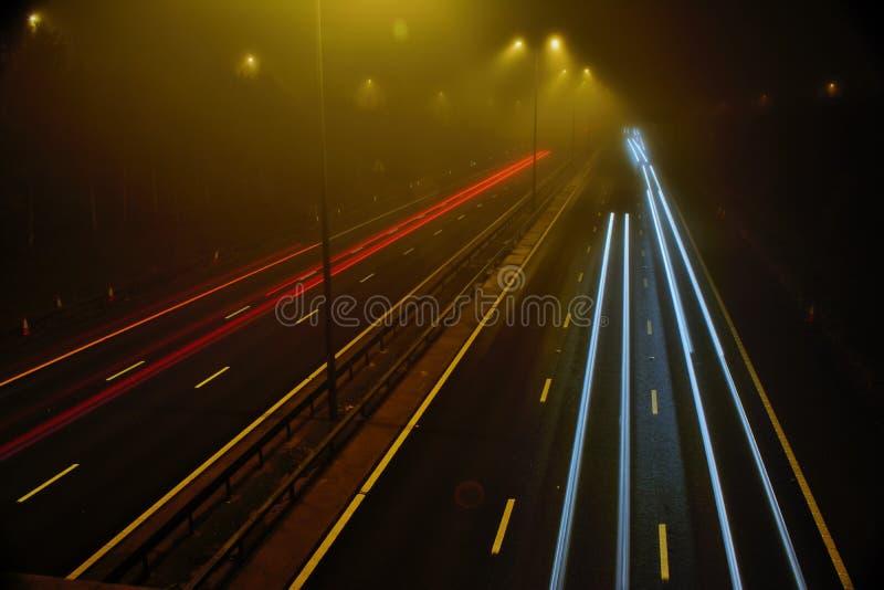 Autobahn M5 in Worcester lizenzfreie stockbilder