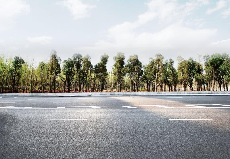 Autobahn- oder Landstraßenstraße stockfotos