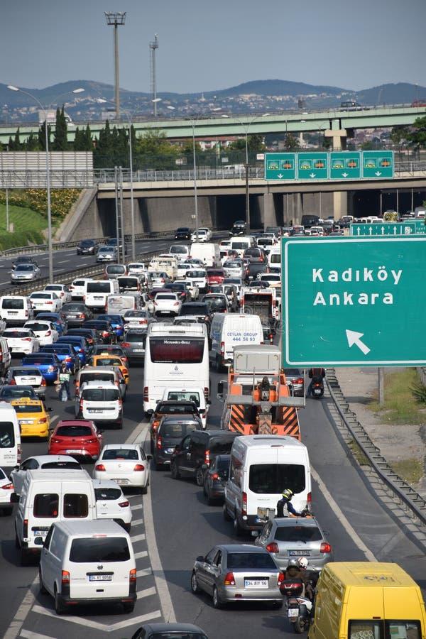 Autobahn ruch drogowy zdjęcia stock