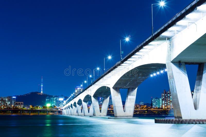 Autobahn in Seoul lizenzfreies stockfoto