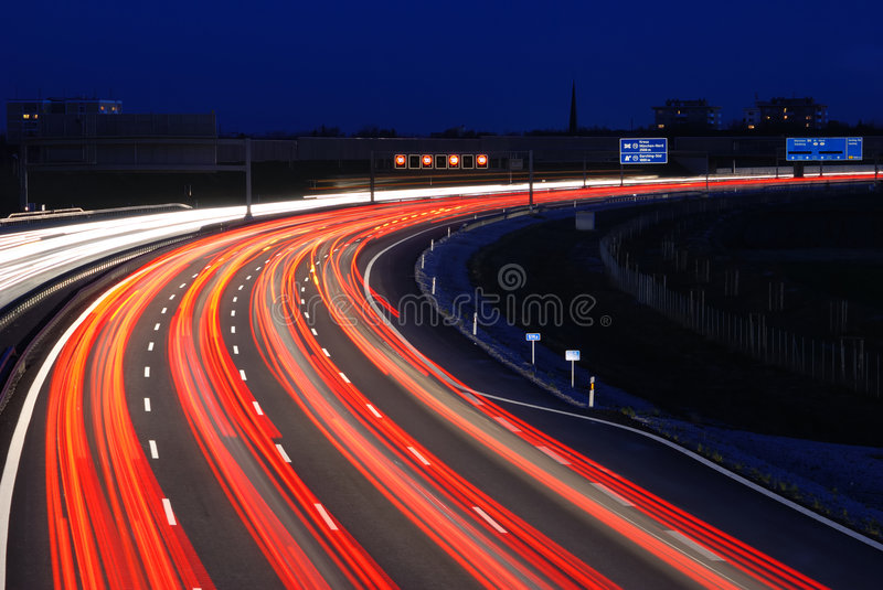 Autobahn to munich royalty free stock image