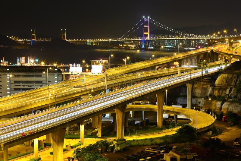 Autobahn und Brücke stockfotos