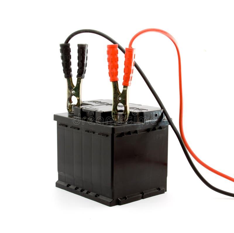 Autobatterie-Sprunganfang lizenzfreies stockfoto