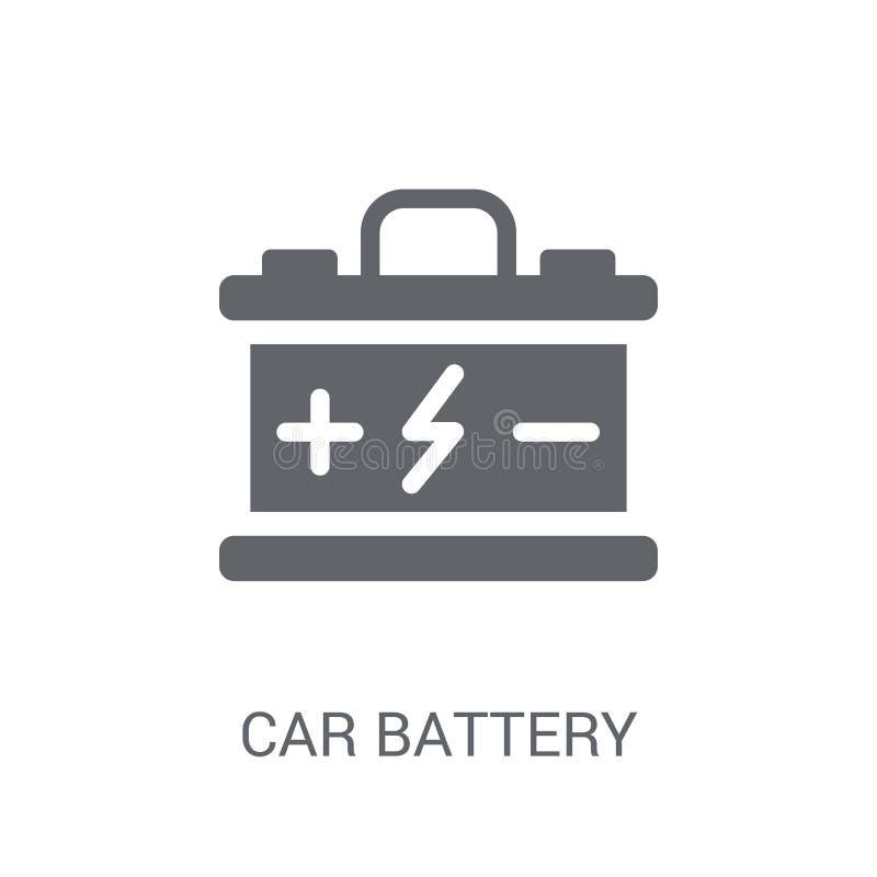 Autobatterieikone  stock abbildung
