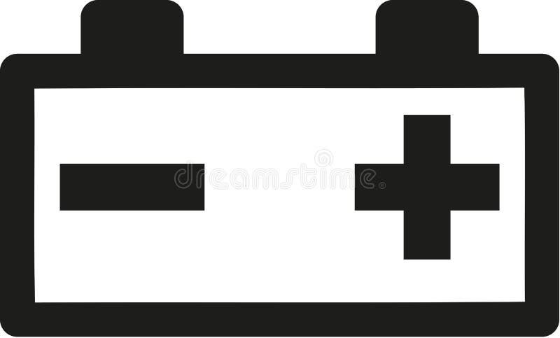 Autobatterij plus minus vector illustratie