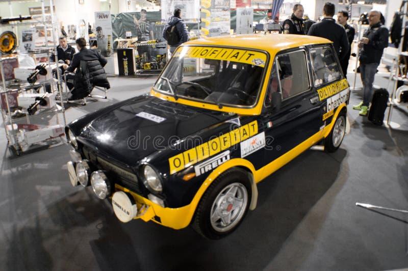 Autobianchi A112 Abarth en Milano Autoclassica 2016 fotos de archivo