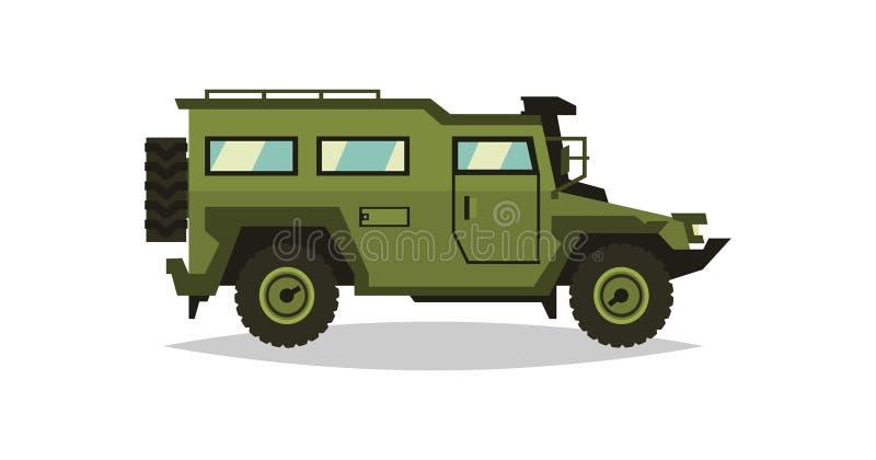 Autoblindata L'automobile in questione nel combattimento Soldati del trasporto Attrezzatura militare speciale diesel Illustrazion illustrazione di stock