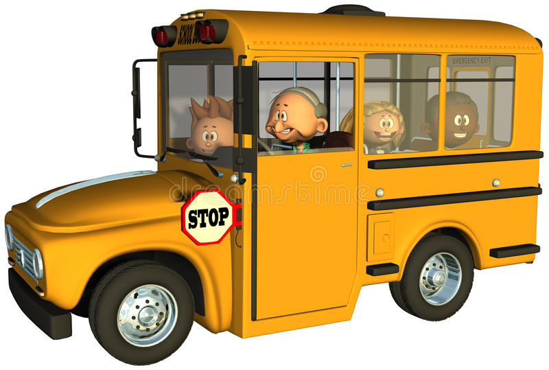 Autobusów Szkolnych dzieci ucznia edukacja ilustracji