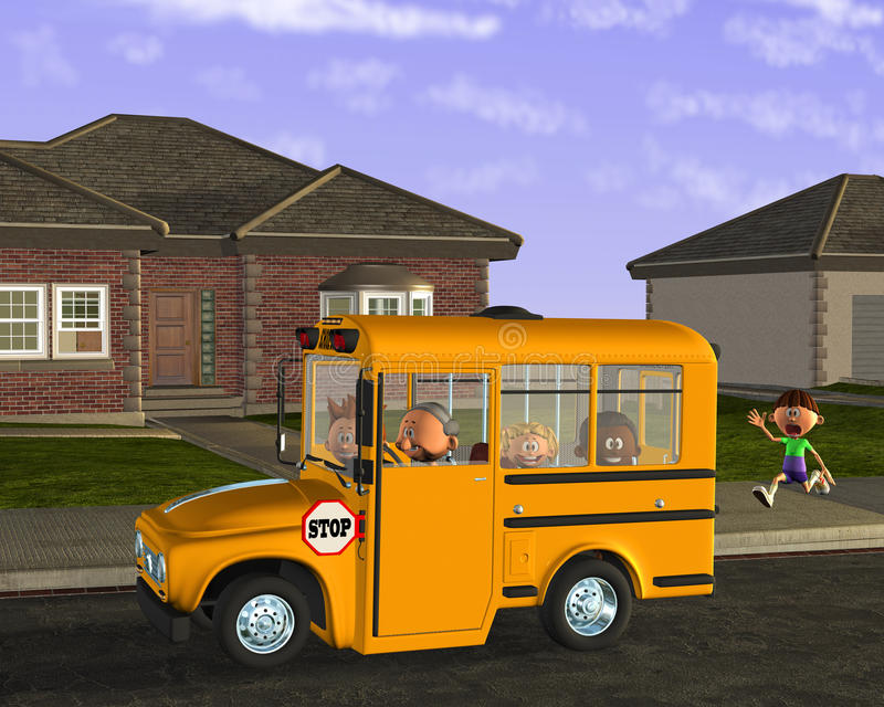 Autobusów Szkolnych dzieci ucznia edukacja royalty ilustracja