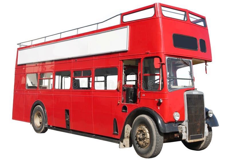 Autobus à deux étages rouge. photo stock
