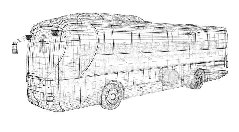 Autobus illustrazione di stock