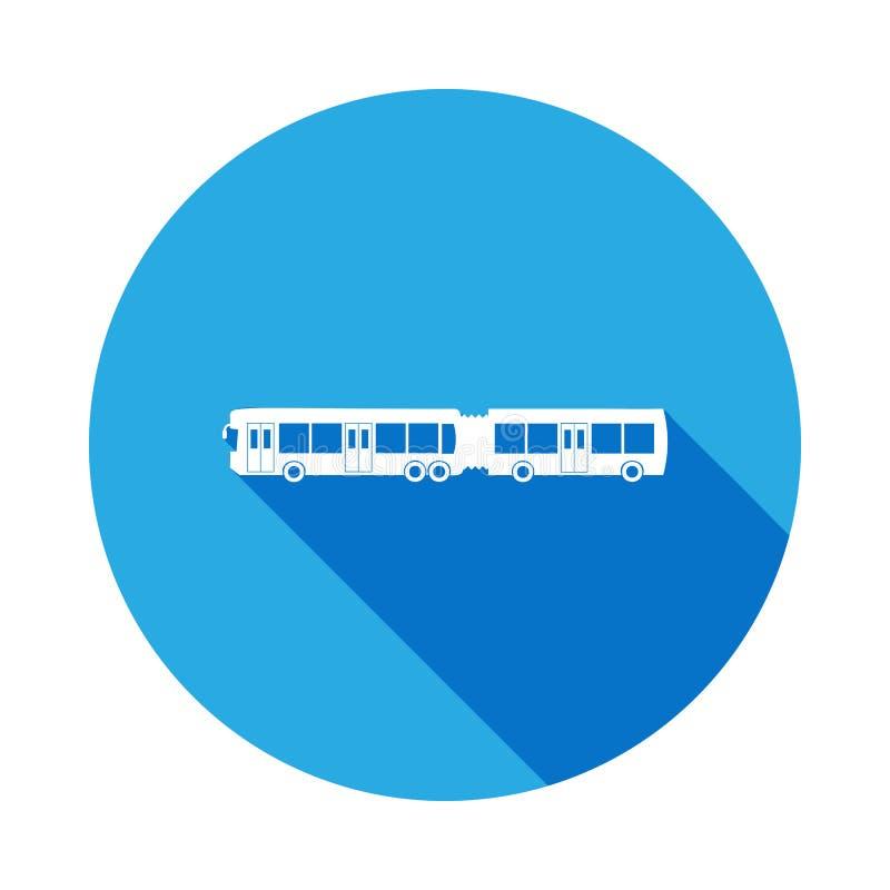 autobus avec une icône de remorque avec la longue ombre Icône de la meilleure qualité de conception graphique de qualité avec la  illustration libre de droits