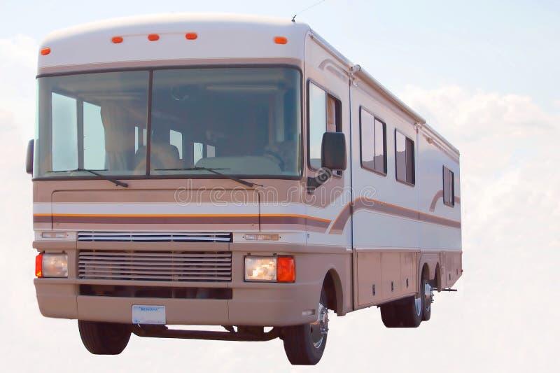 autobus chmur trenerze zdjęcie stock