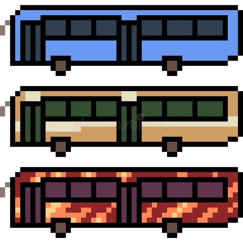 Autobus d'art de pixel de vecteur illustration libre de droits
