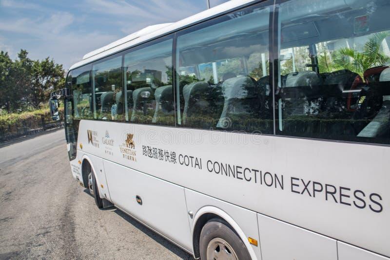 Autobus dans Macao du centre photographie stock libre de droits