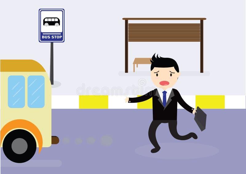 Autobus de attente illustration stock