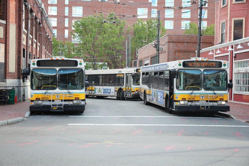 Autobus de Boston images libres de droits