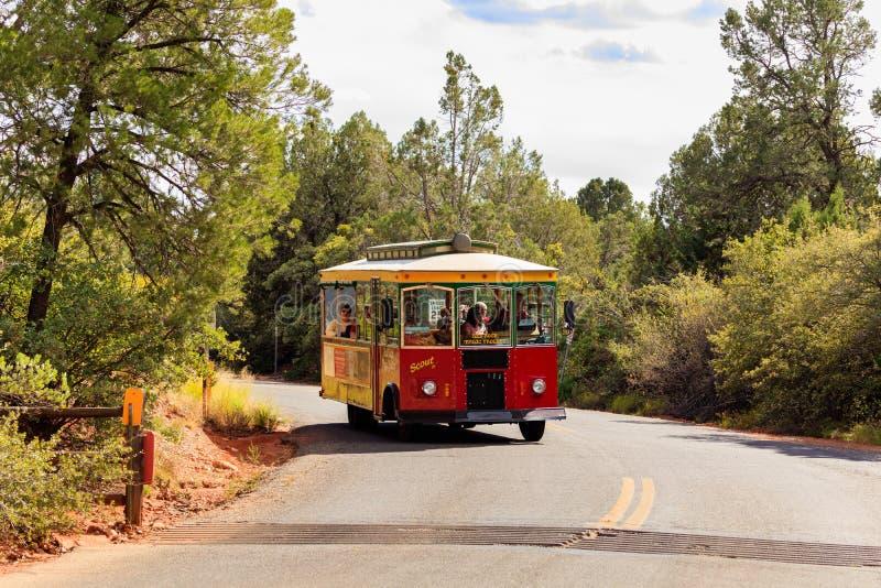 Autobus de chariot à Sedona photographie stock
