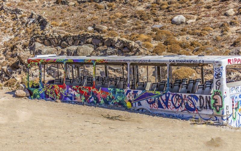 Autobus de graffiti photo stock