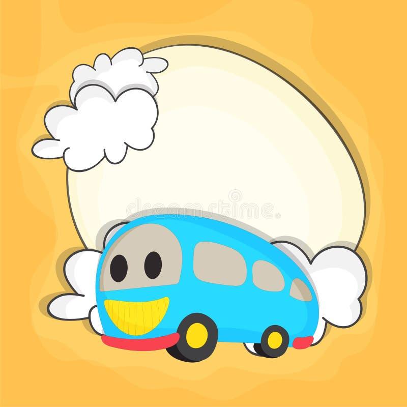 Autobus de Kiddish pour de nouveau au concept d'école illustration stock