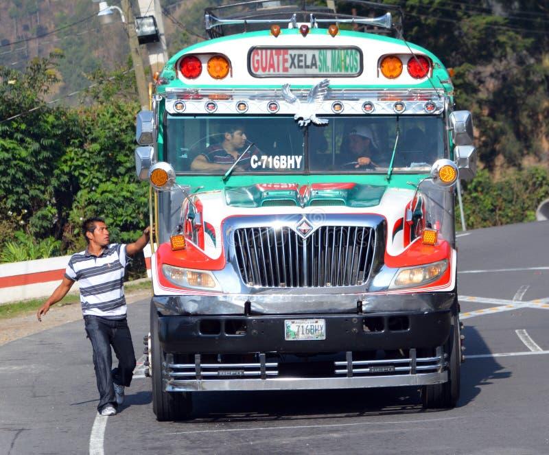 Autobus de poulet images libres de droits