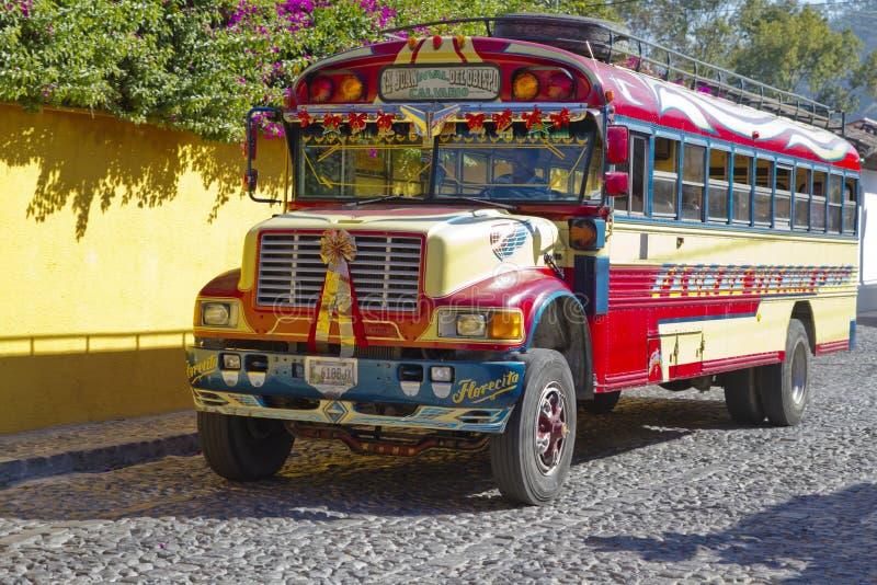 Autobus de poulet, Guatemala image libre de droits