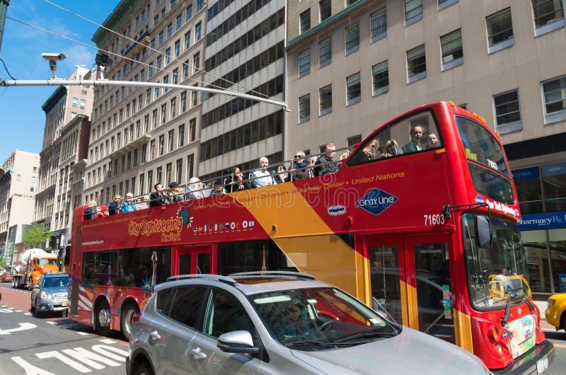 Autobus de touristes à New York images stock