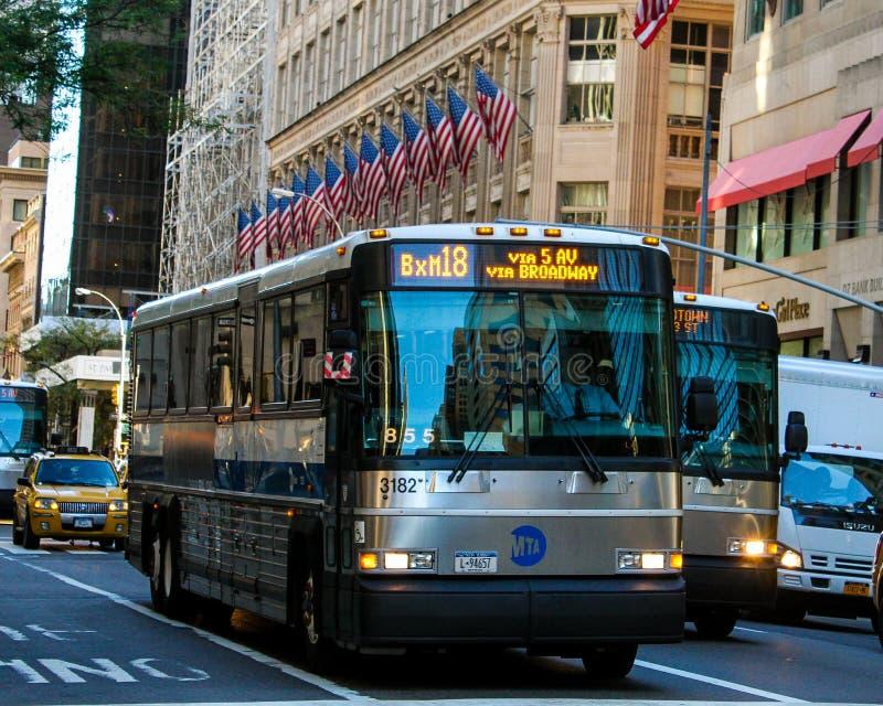 Autobus de transit de New York City photo libre de droits